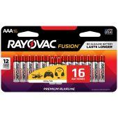 Rayovac Fusion AAA Alkaline Batteries - 16 Piece Retail Packaging