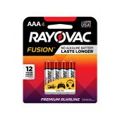 Rayovac Fusion AAA Alkaline Batteries - 4 Piece Retail Packaging