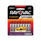 Rayovac Fusion AAA Alkaline Batteries - 8 Piece Retail Packaging