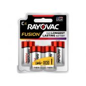 Rayovac Fusion C Alkaline Batteries - 4 Piece Retail Packaging