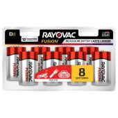 Rayovac Fusion D Alkaline Batteries - 8 Piece Retail Packaging