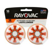 Rayovac 13 Zinc Air Hearing Aid Batteries - 310mAh  - 16 Piece Blister Pack