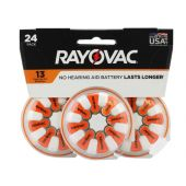 Rayovac 13 Zinc Air Hearing Aid Batteries - 310mAh  - 24 Piece Blister Pack