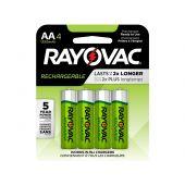Rayovac Recharge AA Ni-MH Batteries - 1350mAh  - 4 Piece Retail Packaging