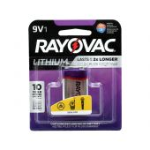 Rayovac Lithium 9V Lithium Battery - 1200mAh  - 1 Piece Retail Packaging