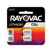 Rayovac CR2 Lithium Batteries - 850mAh - 2 Piece Retail Packaging