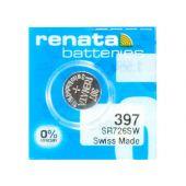 Renata 396 / 397 Silver Oxide Coin Cell Battery - 32mAh  - 1 Piece Tear Strip