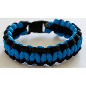 Rescueband Survival Bracelet - Black Outside with Light Blue Inside