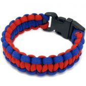 Rescueband Survival Bracelet - Red Outside with Navy Inside