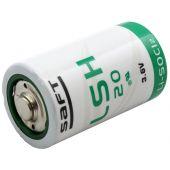 Saft LSH20 D 13000mAh 3.6V Lithium-Thionyl Chloride Button Top Battery - Bulk