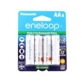 Panasonic Eneloop AA 2000mAh 1.2V Low Self Discharge NiMH Rechargeable Batteries - 8 Pack Retail Card