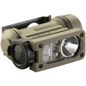 Streamlight Sidewinder Compact II Hands-Free Military Flashlight with E-Mount, Headstrap - White, Red, Blue and IR LEDs - 55 Lumens - Includes 1 x CR123A - Clam Package (14513)