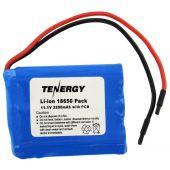 Tenergy 31012 Li-Ion 18650 11.1V 2200mAh Battery Pack