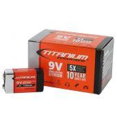 Titanium Innovations 9V Lithium - 10pc Contractor Pack