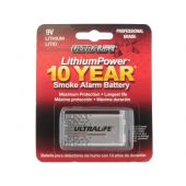 Ultralife 9V Lithium Smoke Alarm Battery